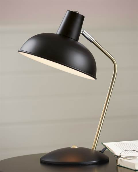 Tischlampe schwarz, Metall