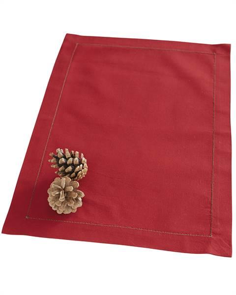 Tischset rot, Baumwolle