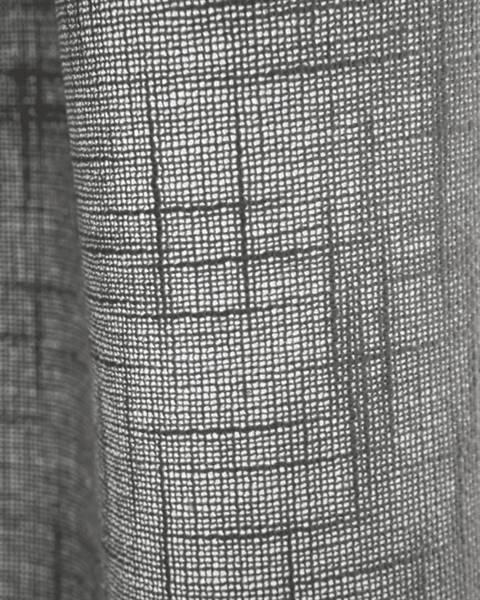Vorhang leinenoptik grau