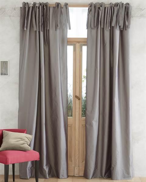 Vorhang, grau, dunkelgrau, Faux-Silk